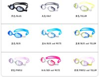 Wholesale 20pcs Men Women Adult Swimming Goggles Swimming Glasses Waterproof Fogproof Strong Swimming Glasses General goggles With retail PV box