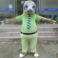 Wholesale adult new designed sloth flash mascot costumes for party from zootopia good quality custom made