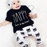 bat boy t shirt - New Arrivals Boy s Children s Outfits Suit Clothing Sets Round Neck T Shirt Trousers Bat Patterns Cotton Blends KA499 Free Shipp