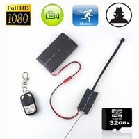 Wholesale 32GB Full HD P MP DVR DIY Module Spy Hidden Camera Remote Control with mah Battery