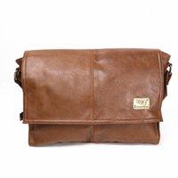 Wholesale Men PU Leather Messenger Crossbody School Bag Business Shoulder Casual Sling Satchel Bags For Inch Laptop Vintage Casual
