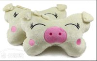 Wholesale 1 pair Car headrest cartoon auto neck pillow lovely pig bone pillow car headrest auto car accessories