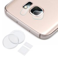 Wholesale 2 in Rear Camera Lens Camera Flash Tempered Glass Film Guard for Samsung Galaxy S6 S6 Edge S6 Edge Plus S7 Edge Note