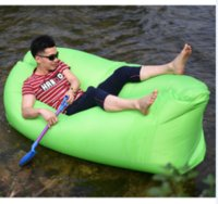 Wholesale Hot sale Fast Inflatable Air sofa Lay Bed Air Bag Camping Beach Hangout Lounge Chair Laybed Sofa Bag