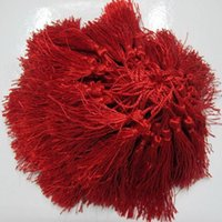 Wholesale red polyester Charm tassel for home decore curtain fitting bookmark curtains