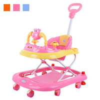 baby toy music - Hot Sale Baby Walker Music Foldable Toddler First Steps Assistant Tools Toy Infant Stroller Car Cartoon Child Wheels Pushchair JN0075