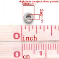 Wholesale Stainless Steel Spacer Beads Round Silver Tone For Charm Bracelet DIY mm Dia Hole Approx mm Mr Jewelry bead yarn