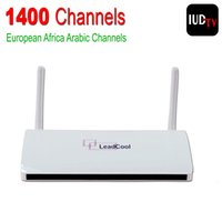 Wholesale IPTV Streaming Box Leadcool Android Wifi G G Include Italy Portugal French Receiver Europe Arabic Sky Channels Package