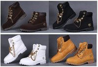 timberland boots - 2016 Fashion Brand Authentic Leather Men s Timberlands Boots Breathable Ankle Vintage Women Men Classic Black White Outdoor Work