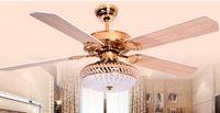 Wholesale 42inch wood leaf modern minimalist fashion fan lights ceiling fans LED remote control bedrooms restaurant ceiling fan lights