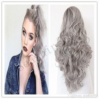 Wholesale Ombre Grey Wig Human Hair Lace Front Glueless Natural Black B Gray Hair Wigs Brazilian Virgin Hair Lace Front Wig African American