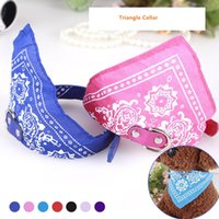 Wholesale Seven Colors collar bib for cats or small dogs teddy poodle rope pet accessories seven color triangle towel scarf collar