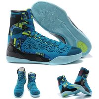 alligator ankle boots - With shoes Box New Bryant Kobe IX KB Elite High Perspective Turquoise Blue Men Boots Shoes