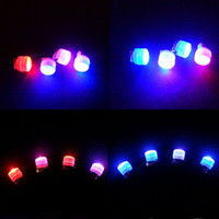 big bling jewelry - Novelty Bling Party LED Earrings Red Blue Flashing Clip on Ear Jewelry Decor Led Rave Toy
