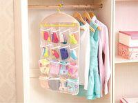 Wholesale New Arrive Thick Multifunction Clear Socks Cosmetic Underwear Sorting Storage Bag Door Wall Hanging Closet Organizer bag cajas organizadora