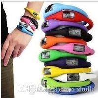 mode nouveauté Anion Santé Sport Bracelet montre-bracelet Bracelet numérique Silicon Unisexe caoutchouc Jelly Ion Montre Couleurs mélangées Livraison gratuite