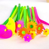 Wholesale Cute Flower Bloom Ball Point Pen Kawaii Floral Stationery cm