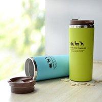 Wholesale 1pcs Animal Tea Water Cup Coffee Mug Drinkware Tea Coffee Mug Of Tea Mugs Mybottle Mugs Water Cup Food Container Jar Glass Cups