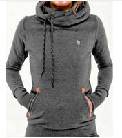 Wholesale 2016 Winter Brand Fleece Women Sweatshirt Hoodies Fashion Solid Long Sleeve Pocket Pullovers Slim Brand Tracksuits Women Ski Clothes
