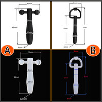 Cheap Beginner's Barbell Bondage Urethral Stretching Black White Silicone Tube Fetish New Gay Sex toy A162