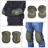 adjustable knee straps - Tactical Cycling Climbing Knee Elbow Protective Pad Protector Straps Adjustable Hunting Knees Support Bag Set