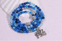 agate elephant - The elephant multi layer crystal bracelet Crystal blue agate bracelet Crystal act the role ofing is tasted Fashion bracelet