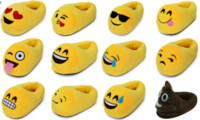 animal print flat shoes - New Arrive Men And Women Emoji Shoes Yellow Cotton Plush Emoji Slippers Creative Funny Home Soft Shoes