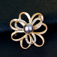 Women's asian style clothing - Hot sell fashion jewelry high grade alloy jewelry Flower modelling pearl brooches clothes joker brooch Europe Style topper brooches