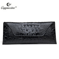 Wholesale 2016 new fashion handbag leather with Crocdile design women black brand name Cappuccino office lady need