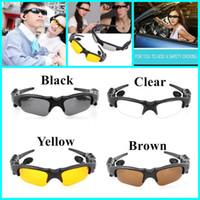 Wholesale Smart Glasses Bluetooth V4 Sunglass Colors Sports Music Driving Sun Riding Glasses Headset Earphone