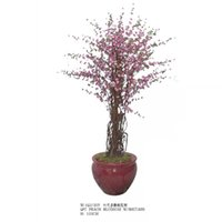 artificial peach tree - five kinds of Artificial plastic peach blossom tree silk peach blossom flower tree