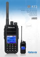 Wholesale Retevis DMR Radio RT3 UHF MHz W Channels Digital Mobile Radio VOX Alarm Two Way Radio Walkie Talkie A9110A