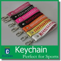 Wholesale 2016 baseball keychain fastpitch softball accessories baseball seam keychains many colors free DHL