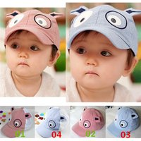 baby boy sun hats - Baby Toddler Kid s Cartoon Baseball Casual Stretched Hats Beret Sun Caps Cotton Blends Cute Dog Patterns GA451