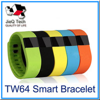 Wholesale TW64 Fitbit Wristband Smart Band Bluetooth Activity Tracker Smartband Sport Bracelet Colors For iPhone S Plus OLED Screen