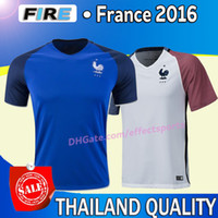 france - 2016 France national team soccer jerseys Uniforms CABAYE BENZEMA GRIEZMANN GIROUD ZIDANE MATUIDI POGBA Maillot de foot football shirts