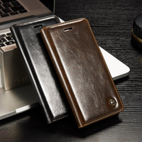 crazy horse leather - iphone7 case Crazy Horse wallet PU Leather Flip Hard Case Cover Card Holder Cases For iPhone s plus