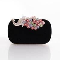 bags cocktail dress - The new peacock dinner bag party hand bag diamond cocktail dress bag bride wedding handbag chain bag