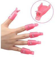 Wholesale 7 Colors Nail Art Plastic Cliper Gel Nail Polish Remover Soak Off Cap Clip UV Gel Polish Wrap Tool DIY Beauty Nail Care Tools