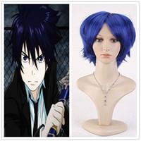 ao hair - WigShow Okumura Rin Fashion Sexy Style Anime Cosplay Blue Haruhi Fujioka Cosplay Short Straight Korean Ao no Exorcist Hair Wigs