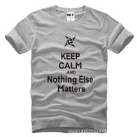 anti matter - WISHCART Pacific Rim Keep Calm and Nothing Else Matters Printed Mens Men T Shirt Tshirt Fashion Cotton T shirt Tee Camisetas Hombre