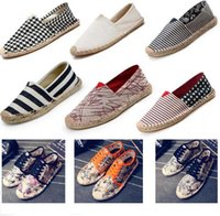 Wholesale Fisherman shoes New products in Straw Flax sole Canvas shoe Weave Single shoes Shoes for men and women sales