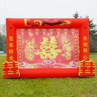 Wholesale Wedding red wedding backdrop gate door inflatable arch tent new