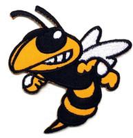 achat en gros de abeilles films-BEE HORNET WASP Film Series TV Emblème brodé Costume fer coudre sur timbre cadeau de Noël