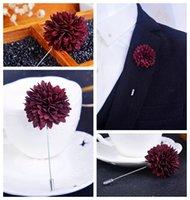 Ramillete broche insignia Joyería broche hembra suéter de moda coreana grandes accesorios salvajes tela de simulación de flores de Corea