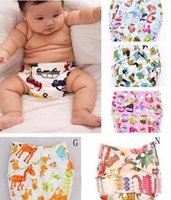 Wholesale Multicolor Baby Cloth Diapers Suppliers Cartoon Infant Baby Reusable Toilet Pee Potty Training Pants Cloth Diaper