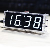 Wholesale Stylish Digital Clock DIY Kit Compact digit DIY LED Clock Accessories Light Control Temperature Date Time Display with Case