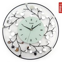antique wooden mirrors - Wooden arch hammock iron mirror clock fashion modern fashion wall clock personality pocket watch mute clock