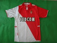 Wholesale Clearance Prices Monaco Home Red Soccer Jersey Soccer Jerseys Fottball Jerseys Jersey