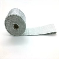 Wholesale 2 quot x Roll Aluminium Foil Fiberglass Exhaust Header Heat Wrap With Pieces Of Stainless Ties Kit